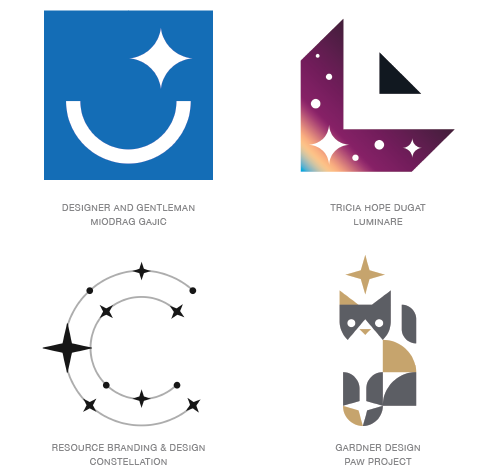 Sparkle logo trend examples