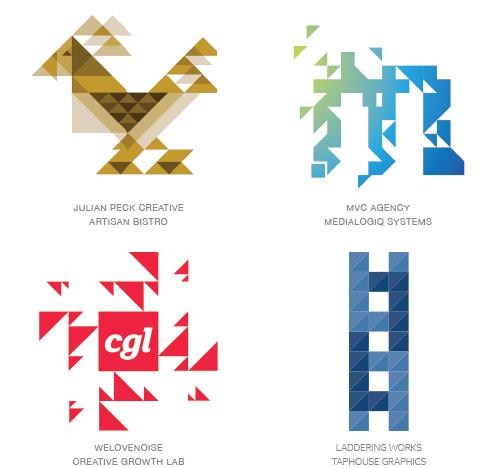 Trixelate logo trend examples